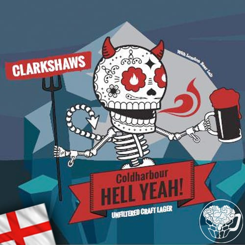 Clarkshaws - Coldharbour Hell Yea! - 5.3% Lager - Craft Beer KeyKeg (52 Servings) - England Image