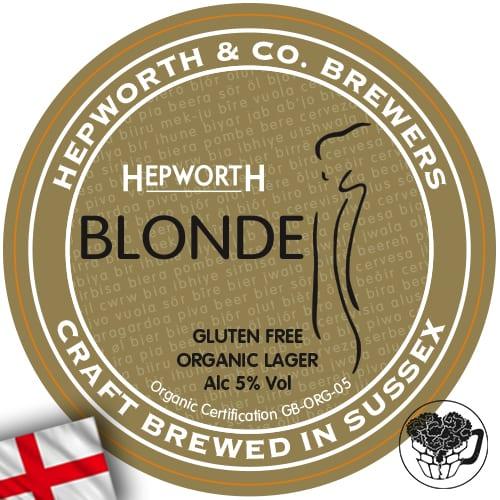 Hepworth & Co - Blonde (Vegan, Gluten Free, Organic) - 5.0% Lager - Craft Beer Keg (88 pints) - England Image
