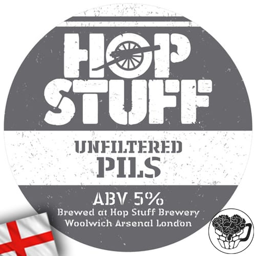 Hop Stuff - Unfiltered Pilsner - 5.0% Lager - Craft Beer KeyKeg (52 Servings) - England Image