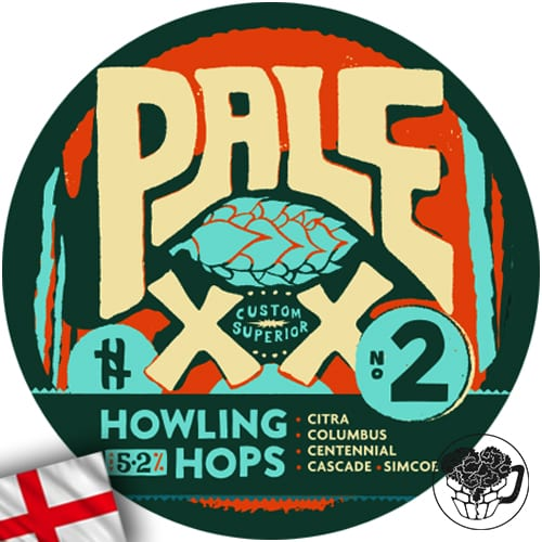 Howling Hops - Pale XX - 5.2% Pale Ale - Craft Beer Keg (52 Servings) - England Image