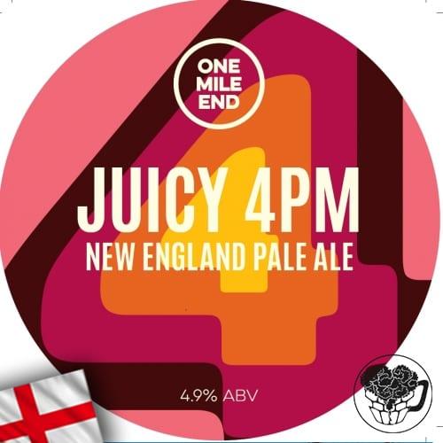 One Mile End - Juicy 4PM - 4.9% IPA - Craft Beer Keg (52 pints) - England Image
