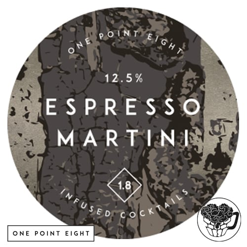 One Point Eight - Espresso Martini - 12.5% Infused Cocktail - Craft Cocktail Keg (152 Servings) - England Image