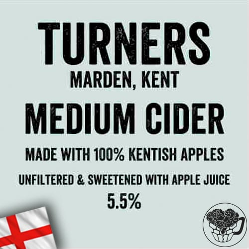Turners - Medium - 5.5% Cider - Craft Cider BiB (35 Servings) - England Image