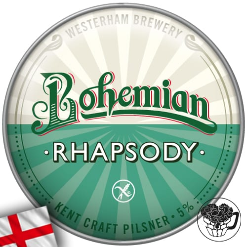 Westerham - Bohemian Rhapsody (Gluten Free, Vegan) - 5.0% Lager - Craft Beer KeyKeg (52 pints) - England Image